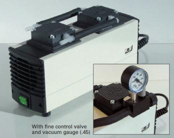 Диафрагменный вакуумный насос KNF LABOPORT N 816.1.2 KT.45.18 с вакуумметром и клапаном регулировки