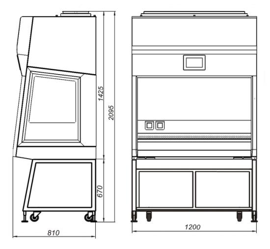 Габаритные размеры БМБ-II-Ламинар-С-1,2 SAVVY SL
